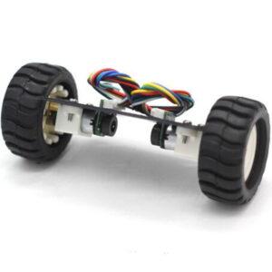 Mini chasis para coche de equilibrio de dos ruedas N20 con codificador (6V 500RPM)